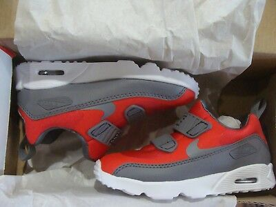 TD Nike Air Max Tiny 90 Toddler Walking Shoes 881924 601 Red//Grey NEW Size 9C