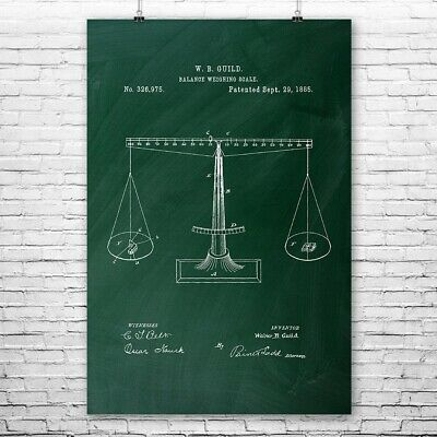 Scales of Justice Poster Print Lawyer Gift Attorney At Law Paralegal Gift