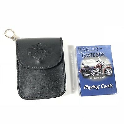 Harley Davidson Playing Cards With Case Heritage Softtail #243 NEW