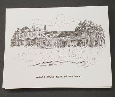 MAINE Artist ROBERT MORROW Pen & Ink Note Cards Blank NOS Variety Pack of 10
