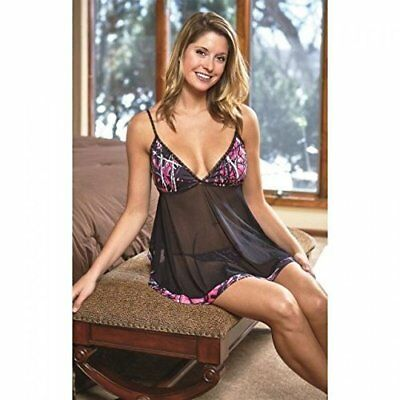 79e82a813 Muddy Girl Camo Baby Doll Set Pink and Black Teddie with pantie Two Piece