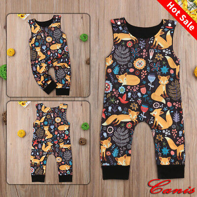 95327abc9 Cute Toddler Kids Newborn Baby Boy Girl Romper Jumpsuit Bodysuit Outfits  Clothes