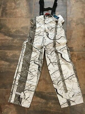 c6b71dd0bff6a HUNTWORTH UNLINED WATERPROOF Snow Camo Bib Overalls #81705-Sc ...