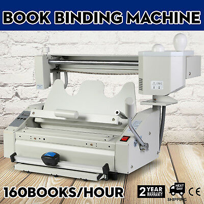 New Hot Melt Glue Book Binder Machine thick pages Binding 220V  groove-pressing