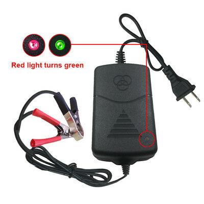 Car Auto Truck Motorcycle 12V Smart Compact Battery Charger Maintainer US Plug