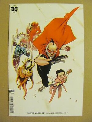 Electric Warriors #1 DC Comics 2018 Series Variant 9.6 Near Mint+