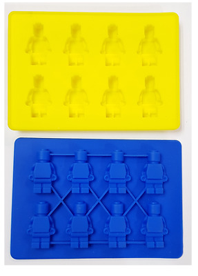 Lego Brick Silicone Chocolate Ice Cake Mold Mould Party Novelty Red Blue Yellow