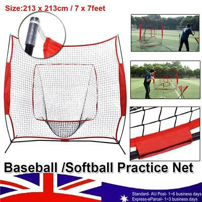 7' x 7' Great Baseball Softball Practice Hitting Batting Training Net Bow Frame
