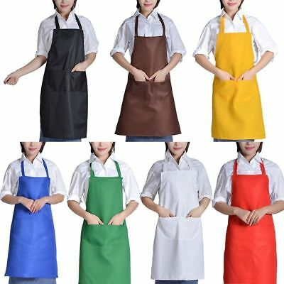 Adult Home Clean Kitchen Cooking Baking Apron With Pockets Grateful Practical