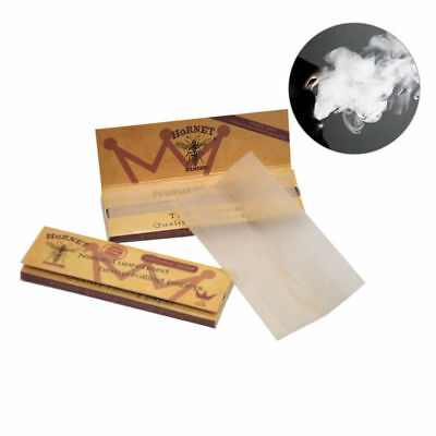 5 x Hornet Organic Brown Smoking Cigarette Rolling Paper 50leaves Pretty