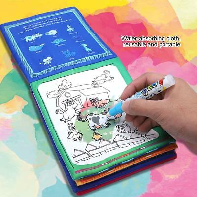 Portable Drawing Painting Writing Cloth Board Magic Pen Doodle Kids Baby Toy