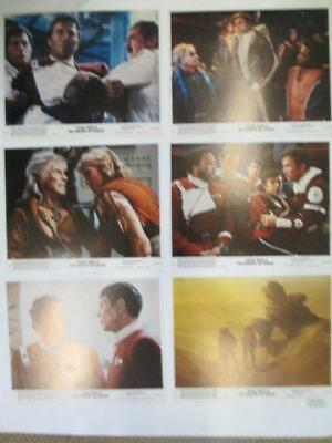 Star Trek II THE WRATH OF KHAN 6 Original Lobby Cards 1982 NM Spock, Kirk, Kahn