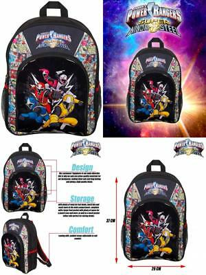 Power Rangers Sports Backpack Super Ninja Steel Blue Red Yellow Pink White. 4560be40ba7fd