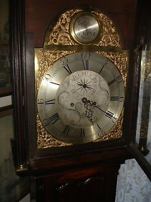 GEORGE 111- 8 DAY BRASS ARCH DIAL LONGCASE//GRANDFATHER  CLOCK (utube Video)
