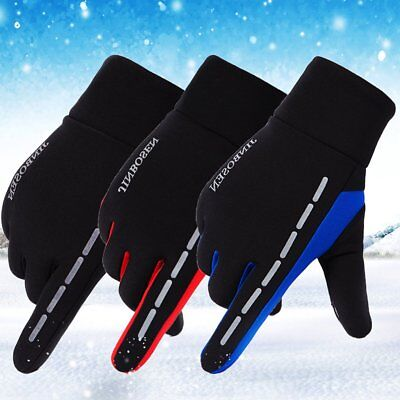 Men Women Reflective Sport Gloves Thermal Walking Sports Running Screen Touch