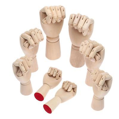 AU Wood Left Right Hand Body Artists Model Jointed Articulated Artwork Mannequin