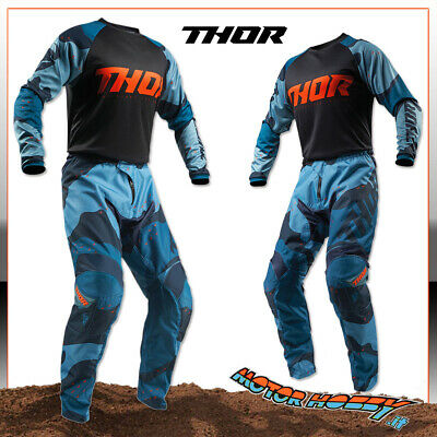 Completo Cross Enduro Quad Thor Sector Camo Blue Taglia M - 30
