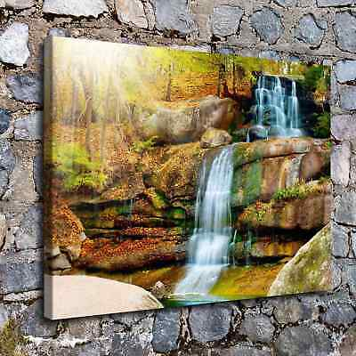 "Landscape Waterfall 16x22"" HD Canvas prints Painting Home Decor Picture Wall art"