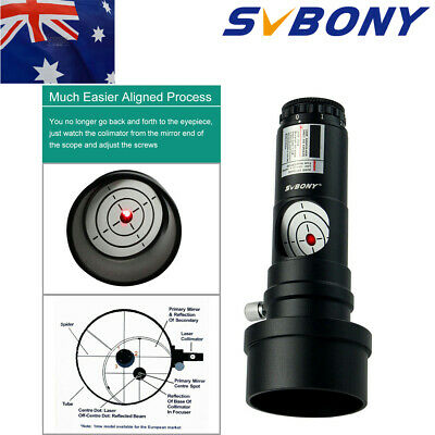 """SVBONY 1.25"""" Red Laser Collimator 7 Bright Levels Triple Cemented Metal Lens US"""