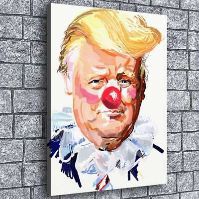 "16""x20"" Trump Clown Home Decor HD Canvas prints Picture Room Wall art Painting"