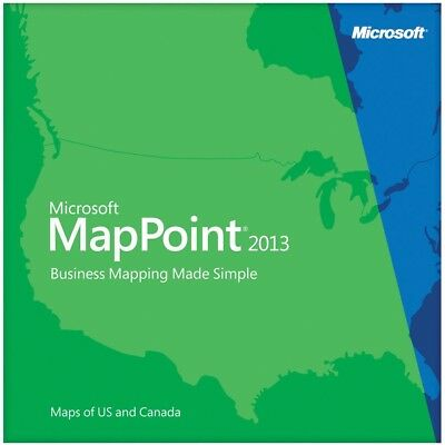 Microsoft MapPoint 2013 For 3 Pc's