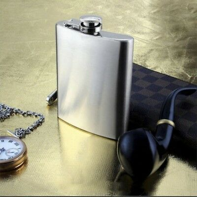 6-10 oz Stainless Steel Pocket Hip Flask Alcohol Whiskey Liquor Screw Cap Funnel