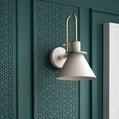 Modern Colorful Metal Cone Shade Brass Indoor Porch Wall Lights Night Sconces