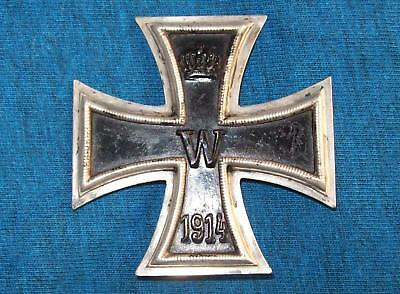Ww1 German Iron Cross 1St Class Maker Marked Ko (Original)