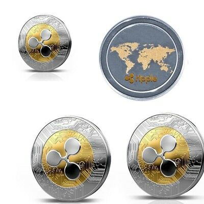 1x Ripple coin XRP CRYPTO Commemorative Ripple XRP Collectors Coin Case