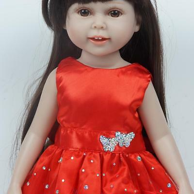 Doll Dress For 18 Inch  Dolls Red Skirt 18 Inch Girl Doll Clothes NEW
