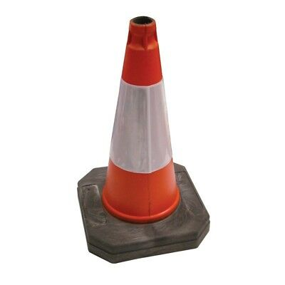 50cm Orange Traffic Road Cone Heavy Duty Orange High Visibility HAZARD WARNING