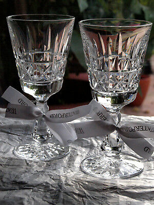 Waterford Crystal Kylemore Claret Glass Set of 2 Vintage Made in Ireland