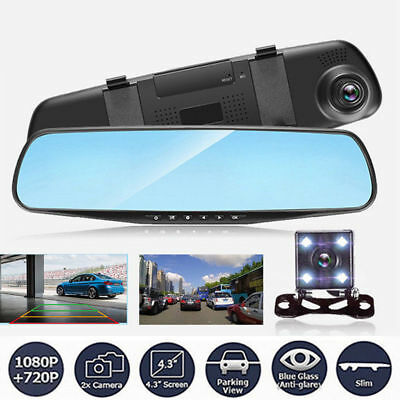Specchietto Retrovisore Per Auto Monitor Dvr Registra Video Telecamera Frontale