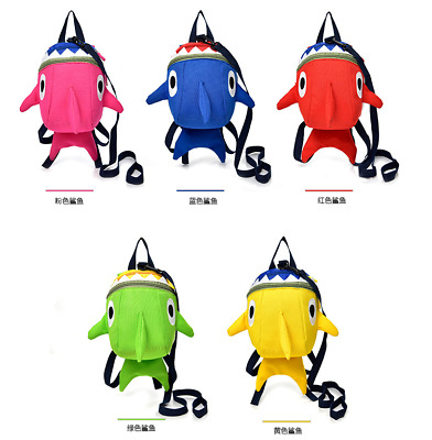 UK Lovely Toddler Baby Boys Girls Kids Shark Shape Animals Backpack School Bag