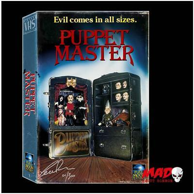Puppet Master VHS Style Blu DVD Boxset SIGNED Charles Band Horror Collectible