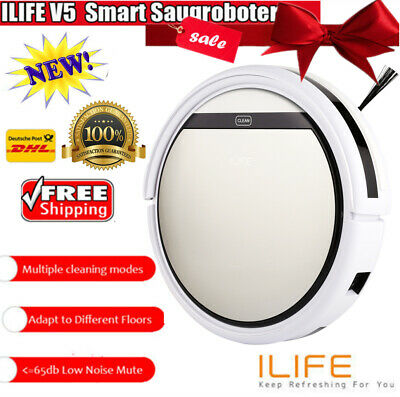 ILIFE V5 Aspirateur Smart Clean Robot Auto Nettoyage Balayeuse Cleaner IR 4Modes