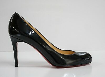 770c55ce5df CHRISTIAN LOUBOUTIN LADIES Patent Black Simple Pump 85 New in Box