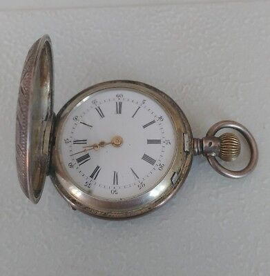 Vintage .800 Silver pocket watch small