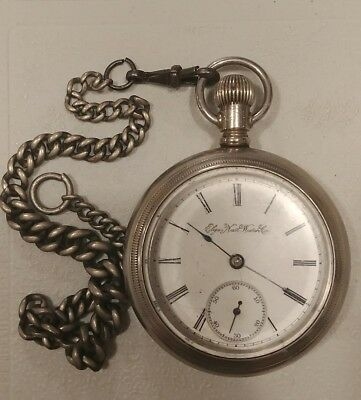 Vintage Elgin Natl Watch Co pocket watch with Silverode Case