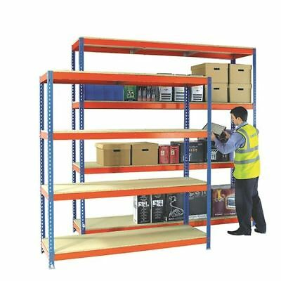 Heavy Duty Painted Additional Shelf 1800x600mm Orange/Zinc 378857 [SBY92223]