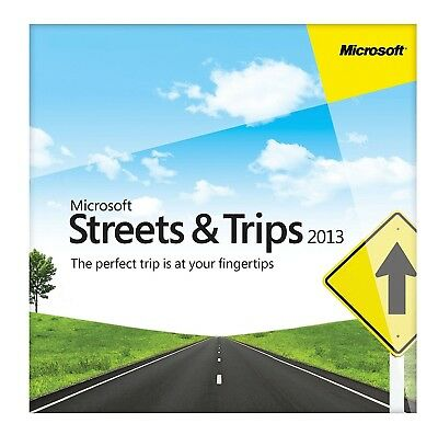 Streets and Trips 2013 32 64 Bit For 3 Pc's