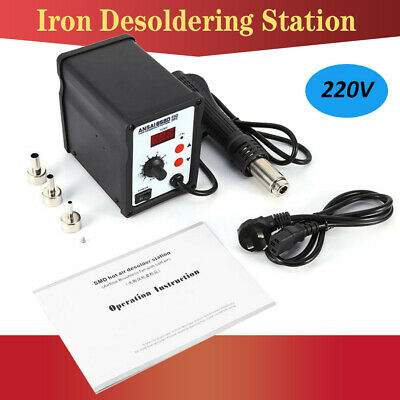 858D 700W SMD Soldering Iron Desoldering Station Hot Air Rework Gun Nozzles