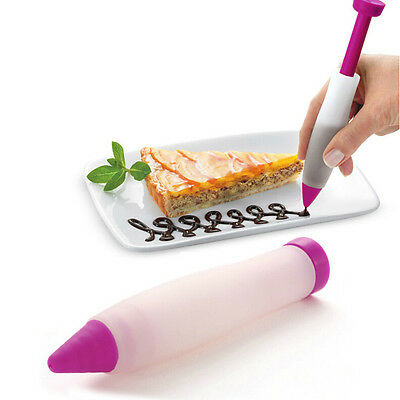 Pastry Icing Piping Bag Pen Nozzle Tips Fondant Cake Sugar Craft Decor To.