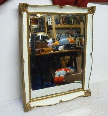 Vintage 1950's Atsonea Rectangular Heavy Gilt Frame Bevelled Mirror 19x15""