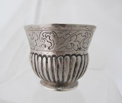 Antique 18th Century Imperial Russian Silver charka cup  Moscow c1785