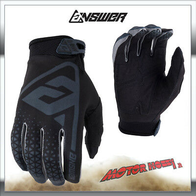 Guanto Cross Enduro Answer Racing Ar1 Glove Antracite Nero Taglia M