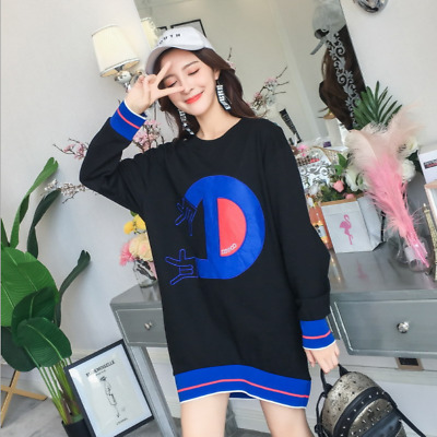 2018 new style Korean Medium length ins style Loose Spring autumn winter Tops