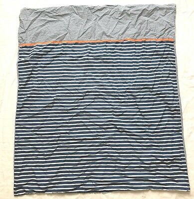 IKEA SKAMTSAM Baby Kid Crib Bed Duvet Cover Blue white stripes