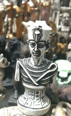 Egyptian Statue, King Tutankhamun, Natural Carved Stone,  See all Scan