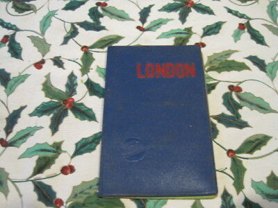 Vintage Falk Fold Out Travel Map What to See in London w/ Easy Map References